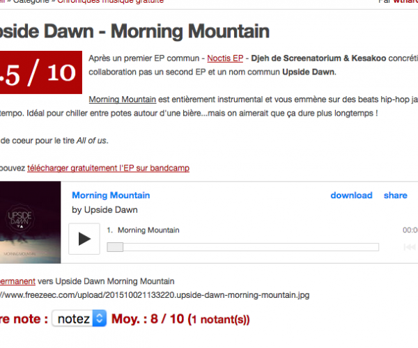 Critique de Morning Mountain (Upside Dawn) par Freezeec
